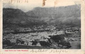 South Africa Cape Town and Table Mountain 1906