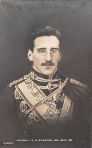 Royalty Kronprinz Alexander von Serbien, Jugoslawien, Serbia King