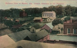 Alabama Marion Birds Eye View With Female Seminary In The Distance sk1754