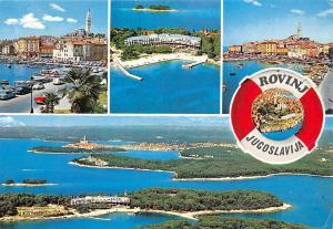 Croatia Rovinj Jugoslavija multiviews Harbour Boats Auto Cars Panorama