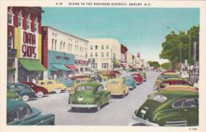 Old Cars Street Scene Business District Shelby North Carolina