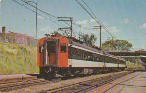 Canadian National Railway Electric Commuter Cars At Mt Royal 22 June 1970
