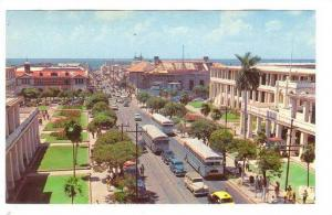 Aerial View, King Street, looking towards harbor, Kingston, Jamaica, West Ind...