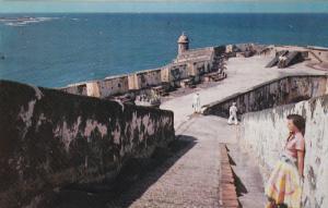 Fortress El Morro Entrance, San Juan Harbor, Puerto Rico, 40-60s