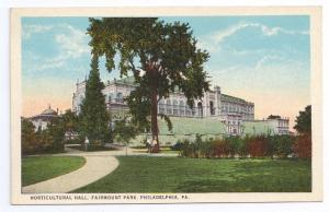 Horticultural Hall Fairmount Park Philadelphia Postcard