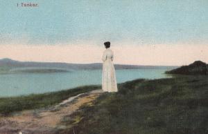 Copenhagen Denmark Military Absence Sadness Mourning 1916 WW1 Postcard