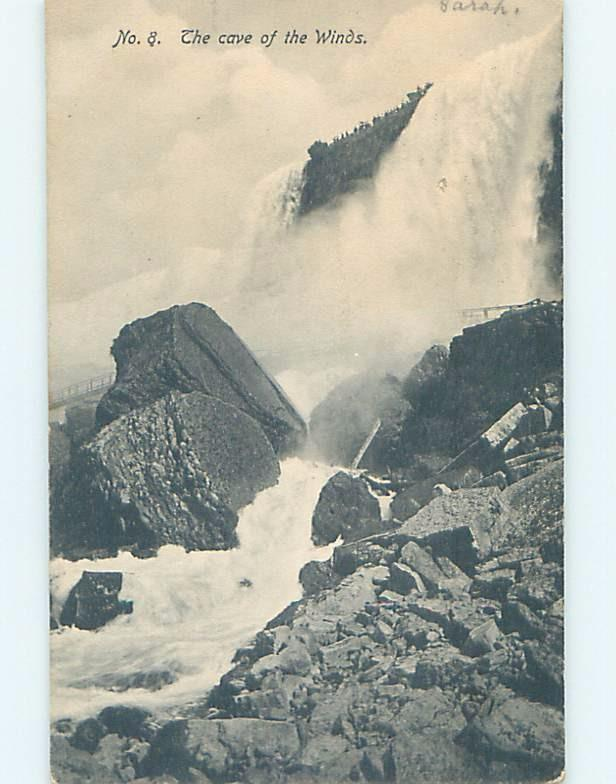 Pre-1907 Very Early View CAVE OF WINDS Niagara Falls New York NY A1282
