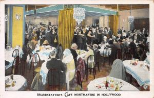 Brandstatter's Cafe Montmartre, Hollywood, California, Early Postcard, Unused