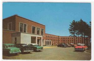 University Memorial Union Cars Marquette Michigan 1957c postcard