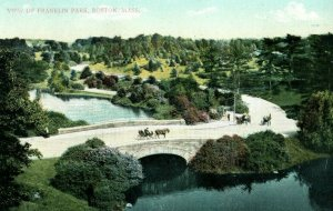 C.1910 Horse Buggy View of Franklin Park, Boston, Mass. Postcard P175
