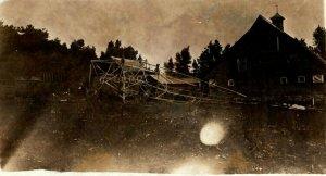1917 Windom Minnesota MN Destroyed Tower Disaster RPPC Photo Antique Postcard
