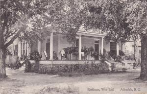 ALLENDALE , South Carolina, 1900-10s ; West End Residence
