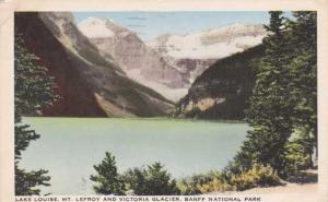 Lake Louise and Victoria Glacier Banff National Park AB Alberta Canada - pm 1947