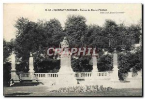 Old Postcard Clermont Ferrand statue of Blaise Pascal