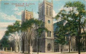 Milwaukee, WI, Grand Ave. M.E. Church, 1915 Antique Vintage Postcard e6957