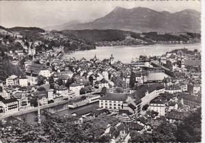 Switzerland Luzern mit Rigi 1956 Photo