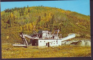 P1443 vintage unused postcard gold dredge gold creek near dawson city yukon