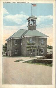 Matamoras PA Barrough Hall c1920 Postcard