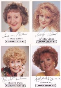 FOUR Coronation Street Facimile Signed Epic Historic Female Cast Card s