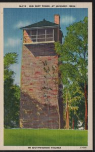 Color PC Old Shot Tower at Jackson's Ferry, Southwestern VA, Unused