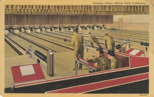 MARCH FIELD , California , 1955 ; Bowling Alleys