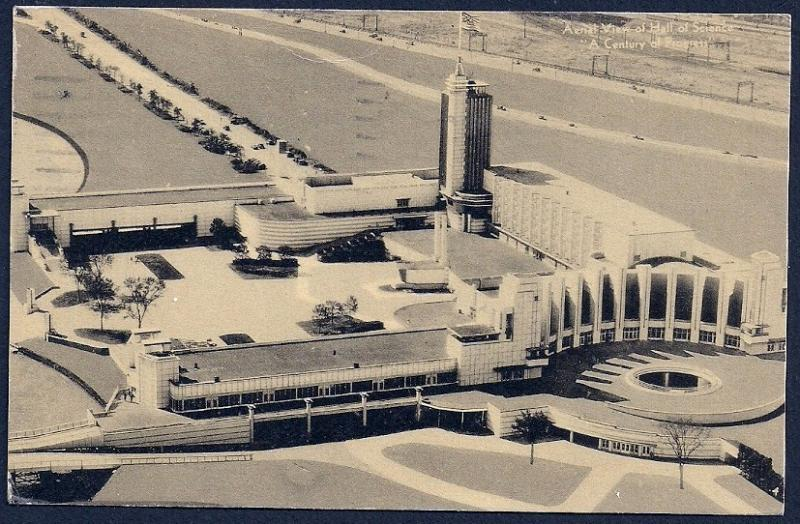 Century of Progress Hall of Science Aerial View used c1933