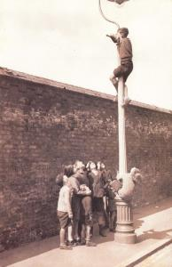 Nostalgia Postcard 1934 The Spotter, Trying to Watch Cricket Test Match NS21