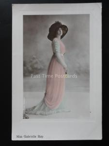 Actress MISS GABRIELLE RAY c1912 Old RP Postcard by Aristophot Co.Ltd