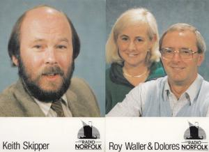 Roy Waller Dolores Keith Skipper 2 Radio Norfolk DJ Postcard s