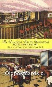 American Bar & Restaurant, New York City, NYC Postcard Post Card USA Old Vint...