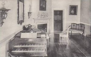 Virginia Mount Vernon Home Of George Washington Miss Custis Music Room Albertype