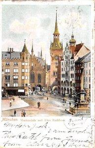 Mariensaule und Altes Rathhaus Munchen Germany 1903