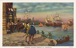 Colonists Leaving England For Jamestown 1606 Curteich