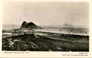 Gibraltar - Rock from the Spanish Mainland - RPPC