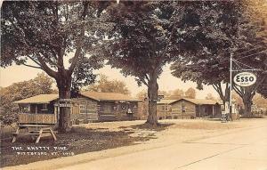Pittsfield VT Esso Gas Station Roadside The Knotty Pine Store RPPC Postcard