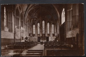 Herefordshire Postcard - Hereford Cathedral, Lady Chapel     U1100