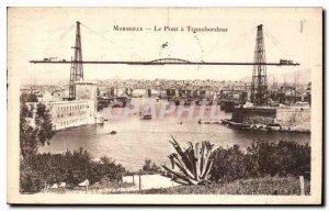 Postcard Old Marseilles Transporter Bridge has