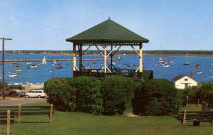 MA - Martha's Vineyard Island. Vineyard Haven. Bandstand and Harbor