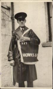 Occupation - Mailman Mail Postal Carrier Howes & Co Bag British RPPCc1920s