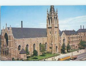 Unused Pre-1980 OLD TRUCK & CHURCH SCENE Cleveland Ohio OH p3329-12