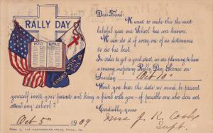 Rally Day , PU-1909 Flags & Bible