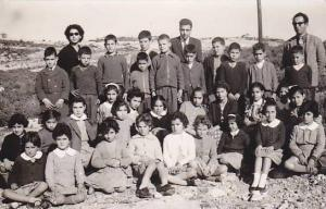 RP: Class picture Students & teachers,  Omodos School , CYPRUS , 1950-60s 1/6