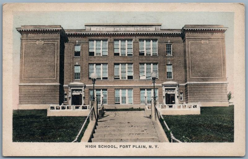 FORT PLAIN NY HIGH SCHOOL 1924 ANTIQUE POSTCARD