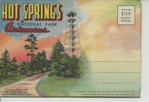 Postcard Folder - AR - Souvenir Hot Springs Arkansas National Park