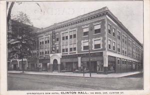 Springfield's New Hotel, CLINTON HALL, Massachusetts, PU-1910