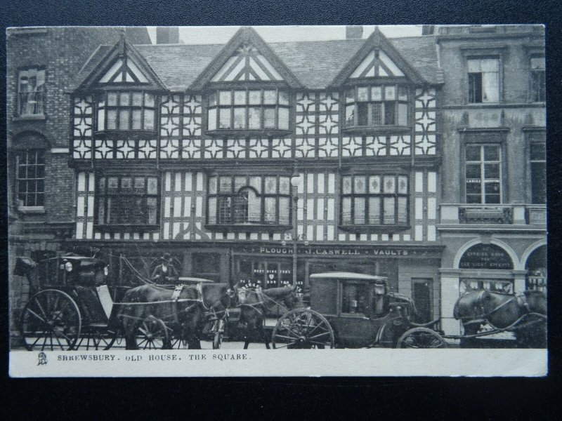 Shropshire SHREWSBURY Old Houses THE SQUARE c1905 Postcard by Raphael Tuck 2019