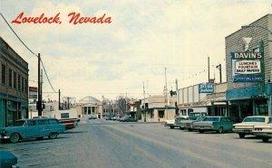 Lovelock Nevada Automobiles Oasis Street Scene Sierra News Postcard 21-10589
