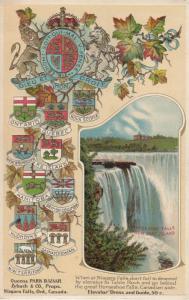 NIAGARA FALLS , Ontario , 1900-10s ; Horseshoe falls from Goat Island
