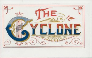 H-017 - The Cyclone Repro antique Cigar Box Label
