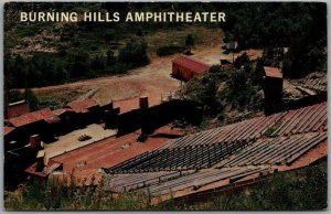Medora, North Dakota Postcard BURNING HILLS AMPHITHEATRE Aerial View c1960s